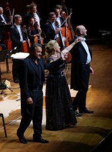 Diana Damrau, Nicolas Testé, Emmanuel Villaume, fot. Beata Fischer