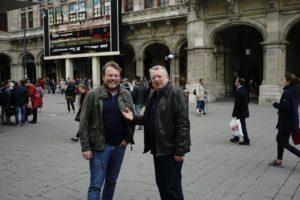 Tomasz Konieczny i Jacek Zygadło - realizator i operator filmu, Mediolan, maj 2017 rok